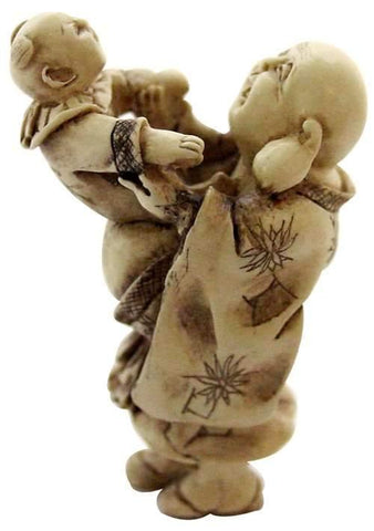 Hotei with Baby Netsuke