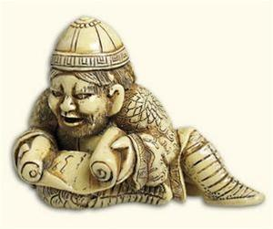 Tartar Warrior Netsuke