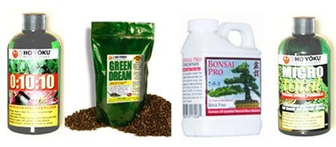 Set of 4 Bonsai Fertilizers