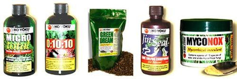 Set of Five Bonsai Care Products