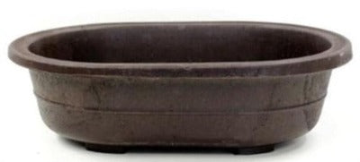 OVAL MICA BONSAI POT - 10 x 6.75 x 2.625
