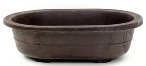 "OVAL MICA BONSAI POT - 12.25"" x  8.375"" x 3.25"""