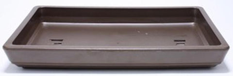 25% OFF - Rectangular Tray Style Plastic Bonsai Pot - Brown