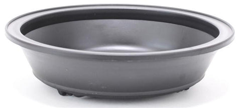 Round High Impact Polystyrene Plastic Bonsai Pot - Brown