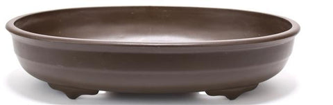 High Impact Oval Plastic Bonsai Pot - Brown