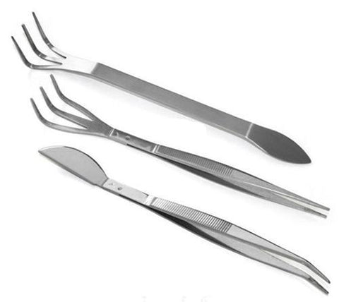3 Piece Stainless Bonsai Root Tools & Tweezer Set by Bonsai Aesthetics