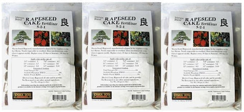 25% off - 3 Bags of Maruta Bonsai Fertilizer Cakes 5-2-1