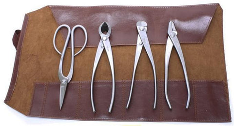 Set of 4 Stainless Steel Bonsai Tools by Roshi