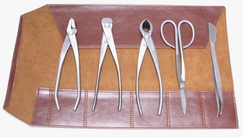 Set of 5 Stainless Steel Bonsai Tools by Roshi