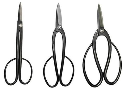 Set of 3 High Carbon Steel Bonsai Shears by Roshi