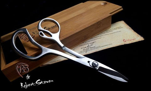 Masters Stainless Bonsai Shears in Bamboo Box - designed by Robert Steven