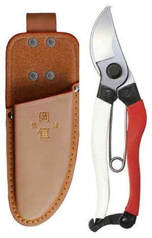 "Okatsune 7"" Bypass Shears & Leather Sheath"