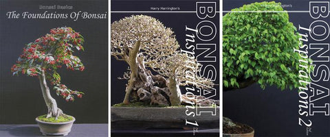 Set of 3 Bonsai Books by Harry Harrington