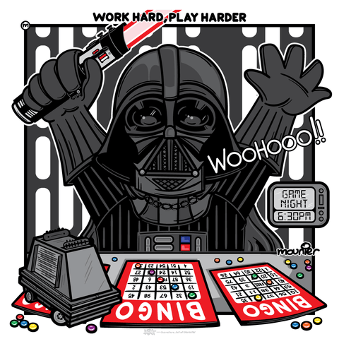 """Work Hard, Play Harder"" Open Edition Print"