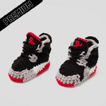 Baby Crochet IB-4 Black (non-slip bottom & shoe box)