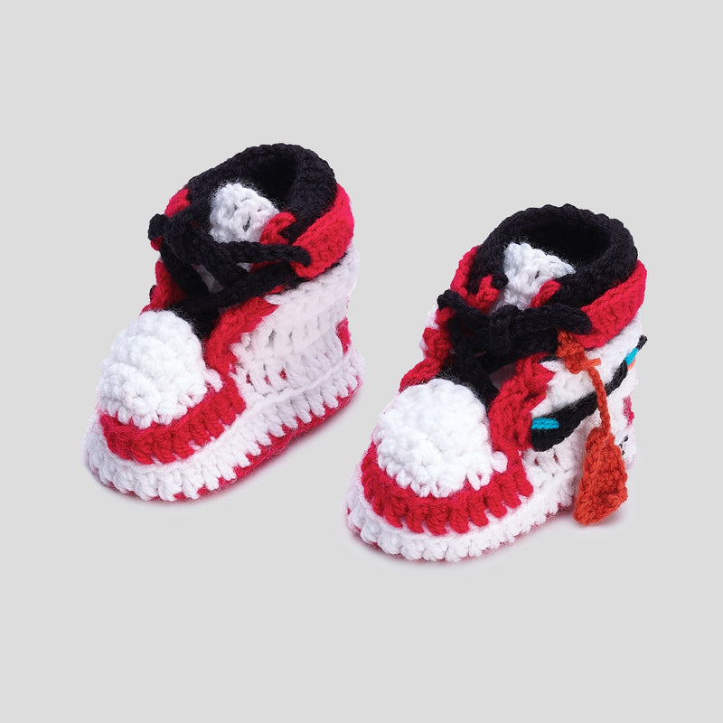 Baby Crochet IB-1 OFF-W (Includes 2 pair of laces and shoe BOX)