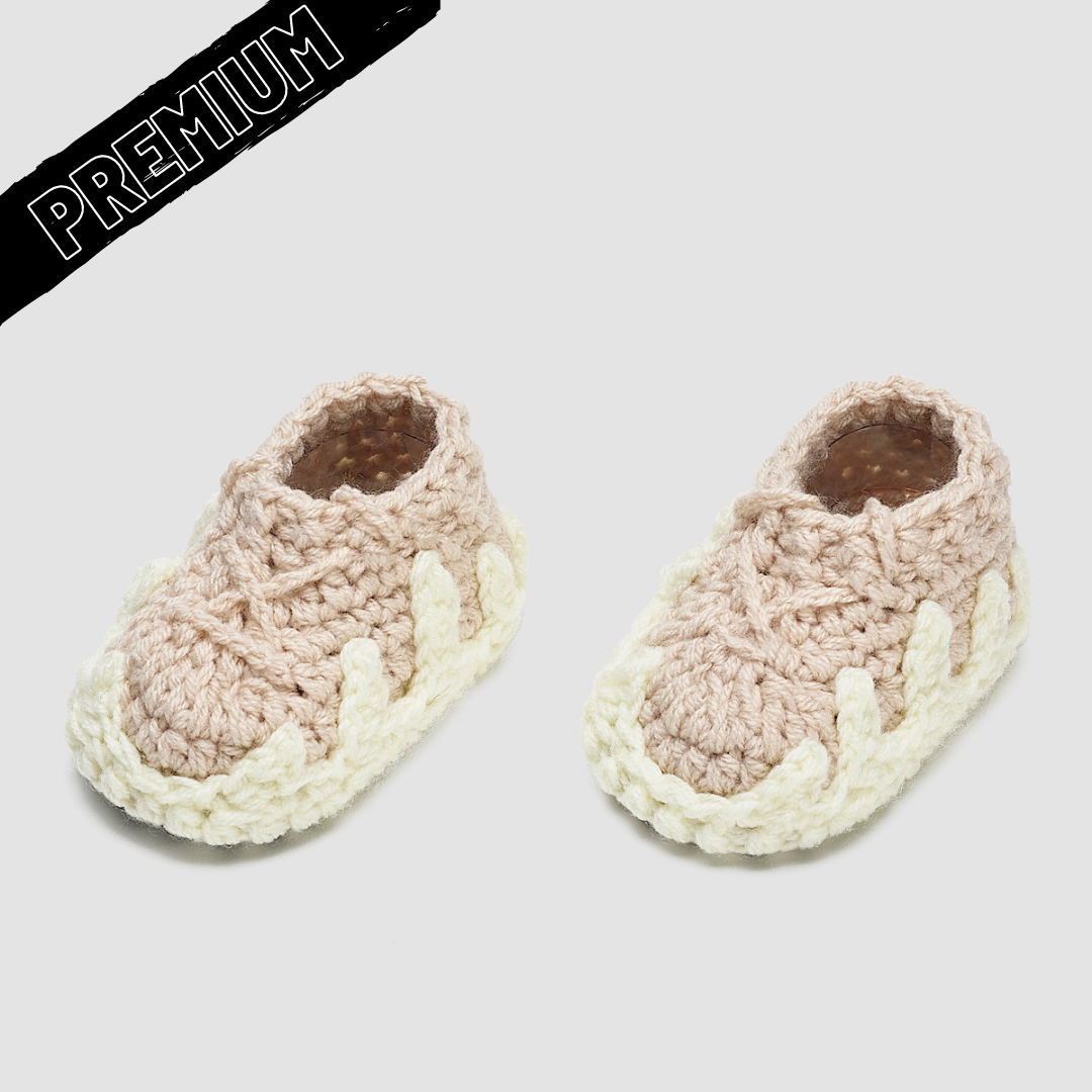 Baby Crochet Yzy Cloud (Soft felt non-slip bottom and shoe box)