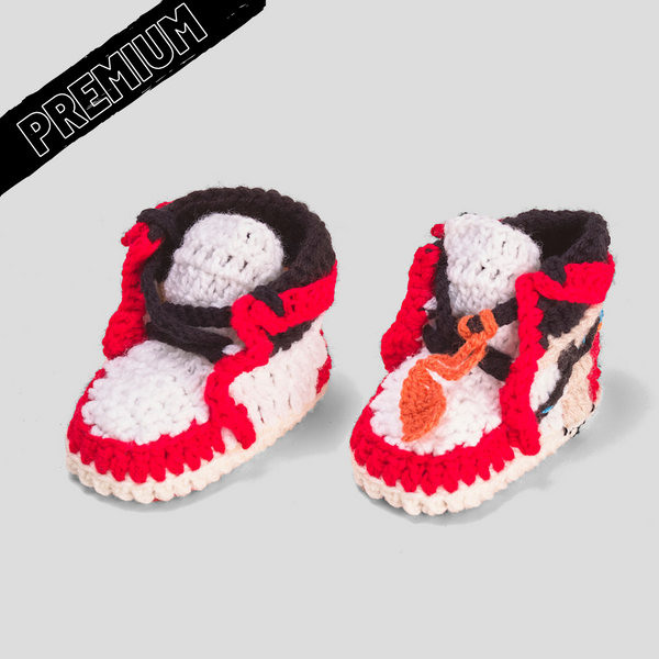 Baby Crochet IB-1 OFF-W RED (Includes 2 pair of laces, non-slip bottom and shoe BOX)
