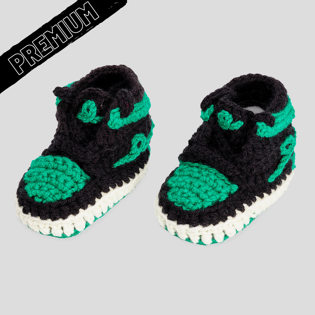 Baby Crochet IB-1 Shamrock (Soft felt non-slip bottom and shoe box)