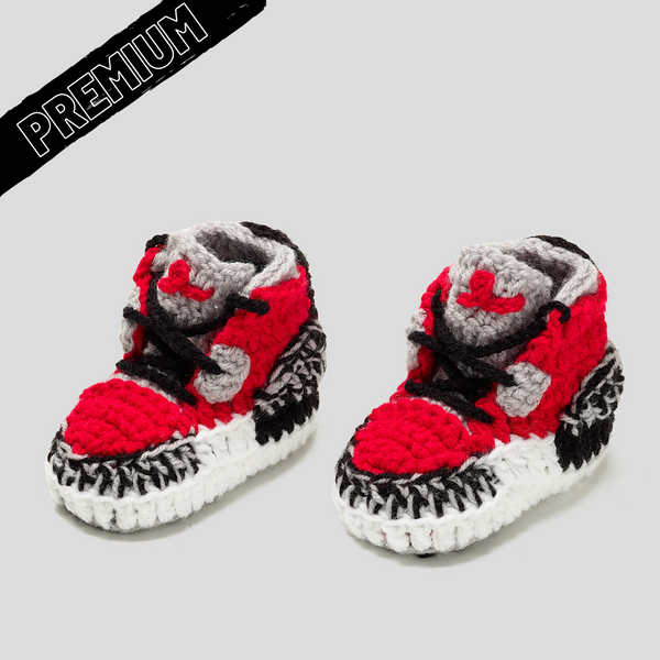Baby Crochet IB-3 Red (non-slip bottom & shoe box)