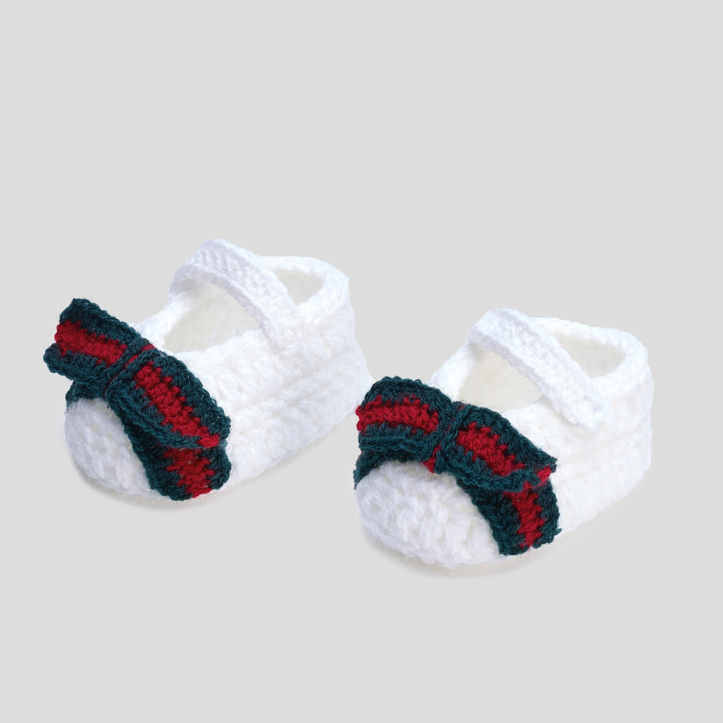Baby Crochet Ballet Flat white (Girls)