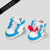 Baby Crochet IB-1 OFF-W BLUE (Includes 2 pair of laces, non-slip bottom and shoe BOX)