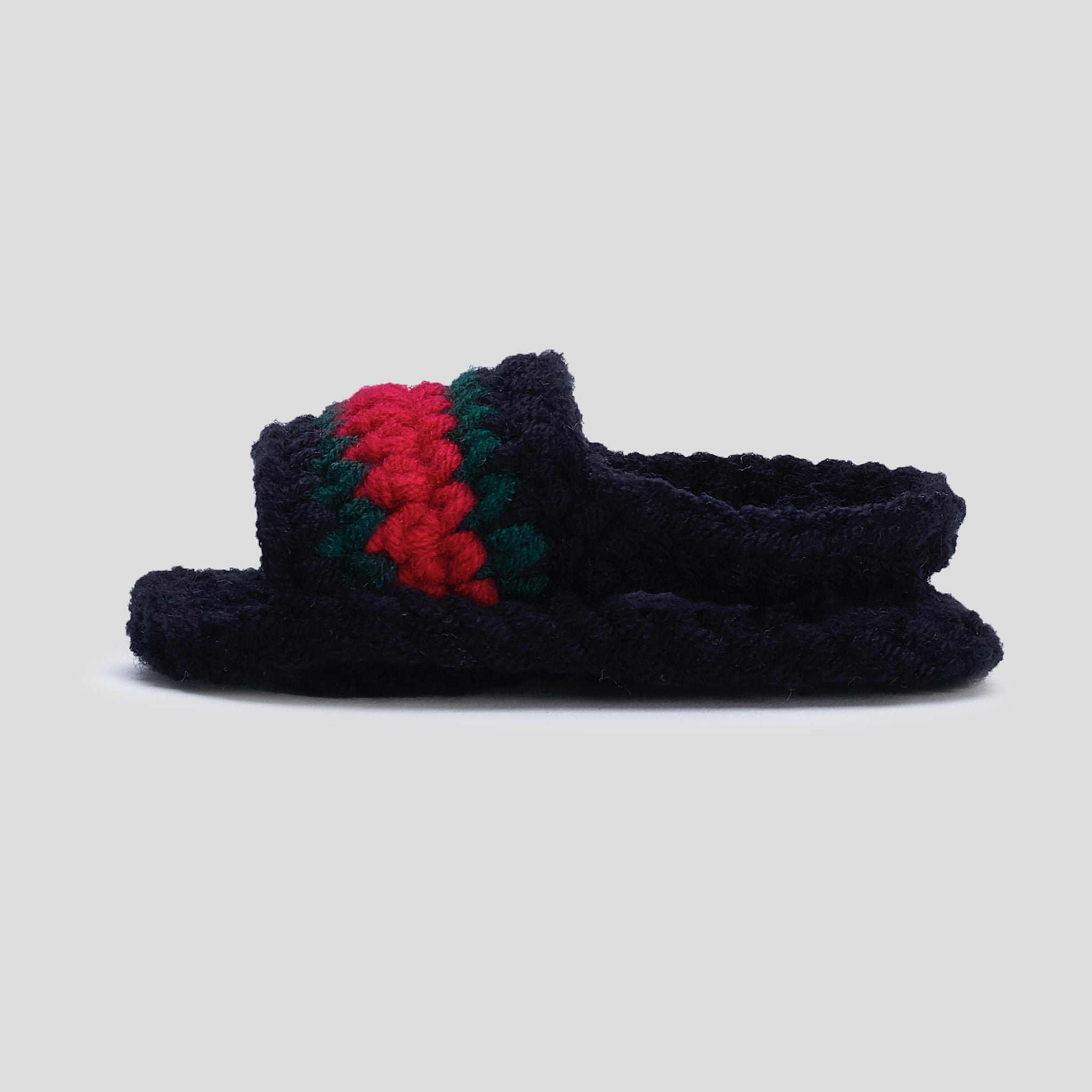 Baby Crochet Slide Sandal (Black)