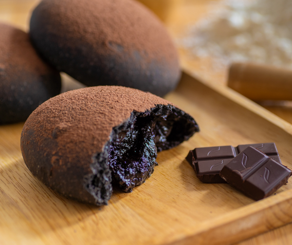 Chocolate Charcoal Sourdough Soft Bun
