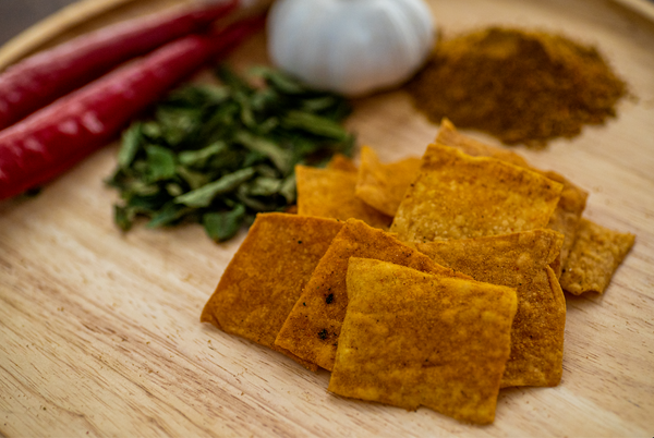 Sourdough Crackers - Curry Flavour (Dairy Free, Nut Free, Vegan)
