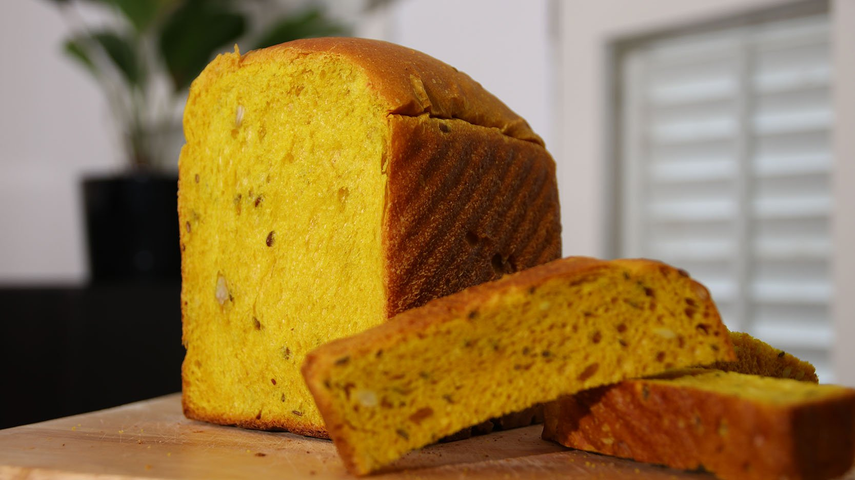 Soft Turmeric Flaxseed Sourdough (Dairy Free, Nut Free)