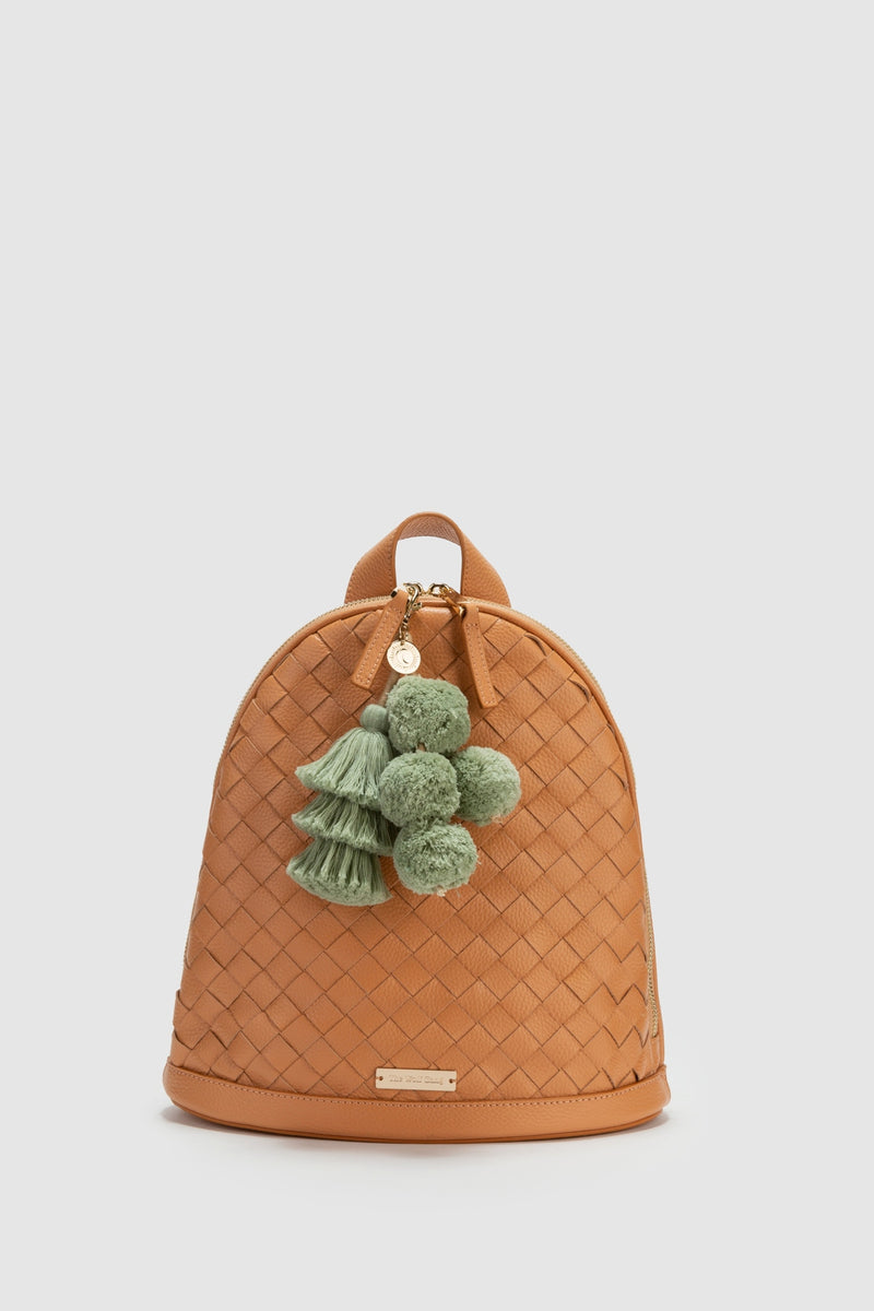 Estrella Woven Backpack – Butterscotch Leather