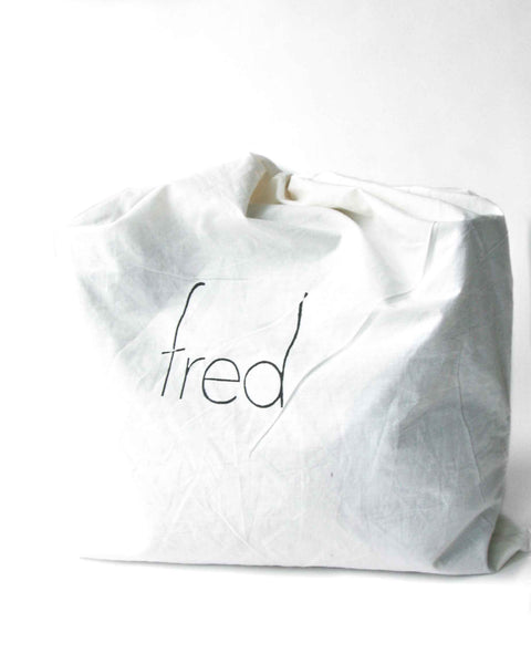 fred leather cotton dust bag