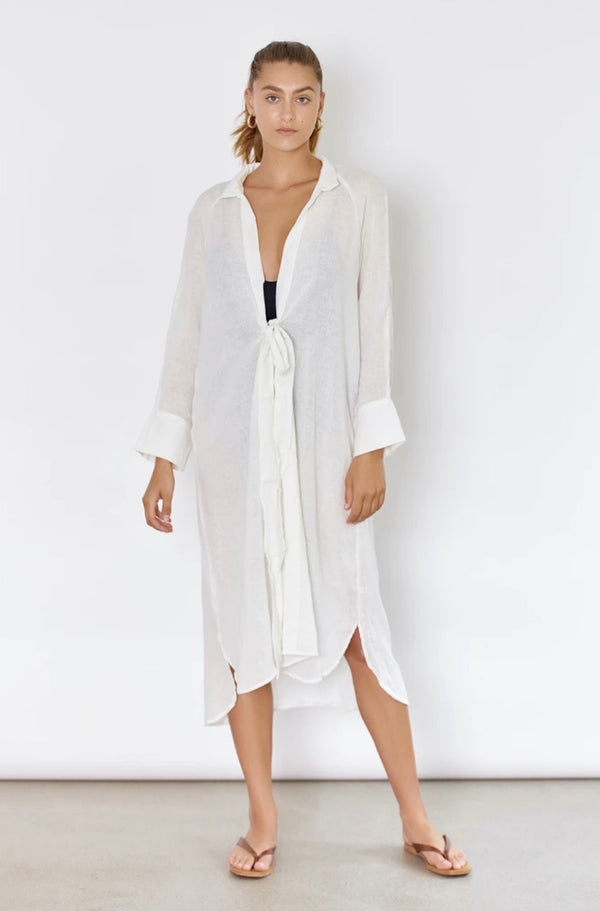 Rae Shirt Dress Off White