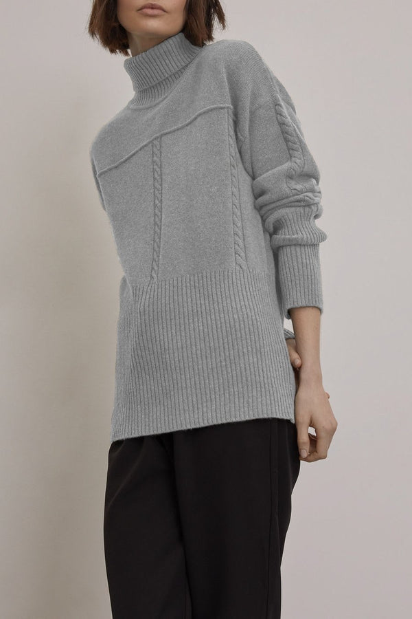 ELIAS JUMPER / PALE GREY MARLE