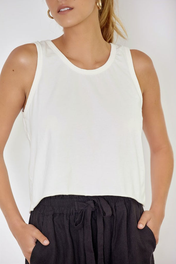 DRIFTER TANK - WHITE (ORGANIC COTTON )