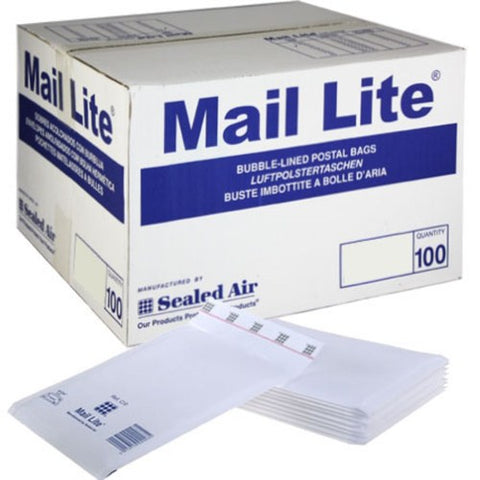 Bubble Lined Bags - Mail-Lite White