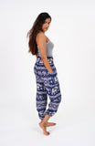 Blue High Waisted Elephant Pants