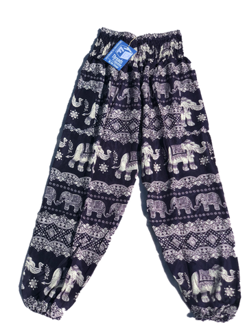 Black High Waisted Elephants Pants