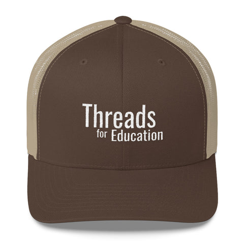 Threads Trucker Cap - Brown/Khaki