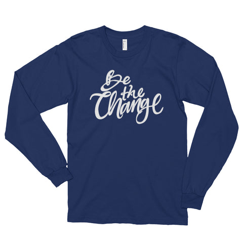 Be the Change Long Sleeve - Navy - Front