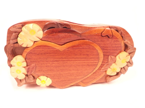 Keepsake Box - Two Hearts With Flower