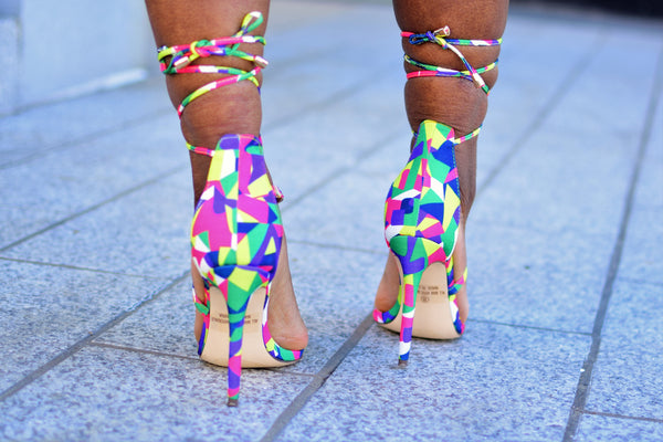 Multi Lace Me Up Heels