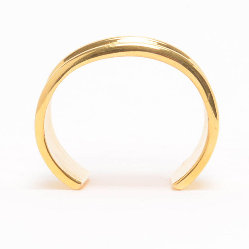 Karl Lagerfeld Gold mailing Address Cuff - Blue Spinach