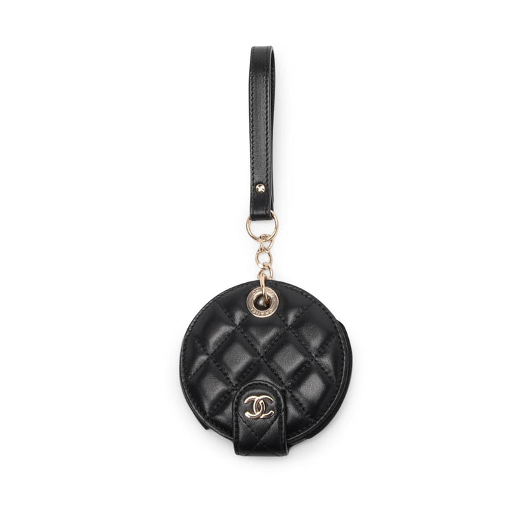 Chanel Black Quilted Lambskin Travel ID Bag Charm
