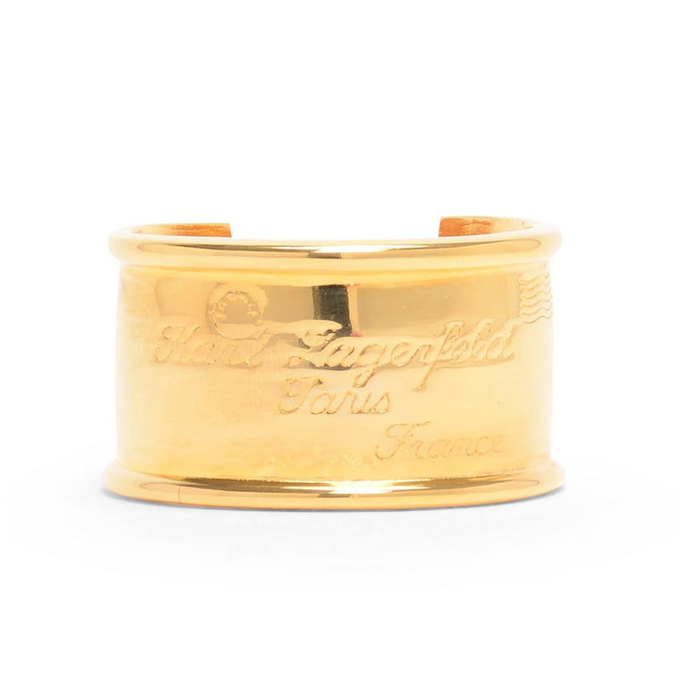 Karl Lagerfeld Gold mailing Address Cuff