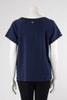Chanel Navy Grecian Goddess CC Print Sweat Top L - Blue Spinach