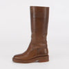 Chanel Tan Pull-On Boots 35 - Blue Spinach