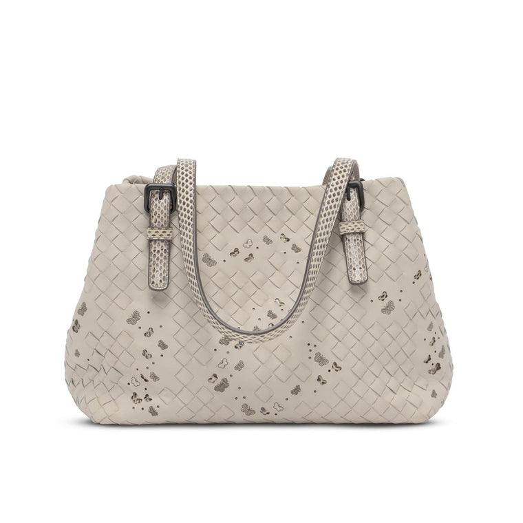 Bottega Veneta Mist Intrecciato Nappa Ayres Mini Cesta Bag