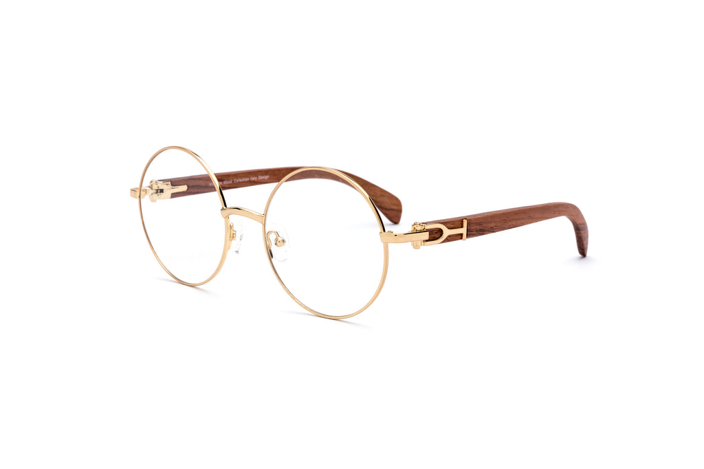 Cartier wood bagatelle glasses round gold eyeglasses frame vwc eyewear