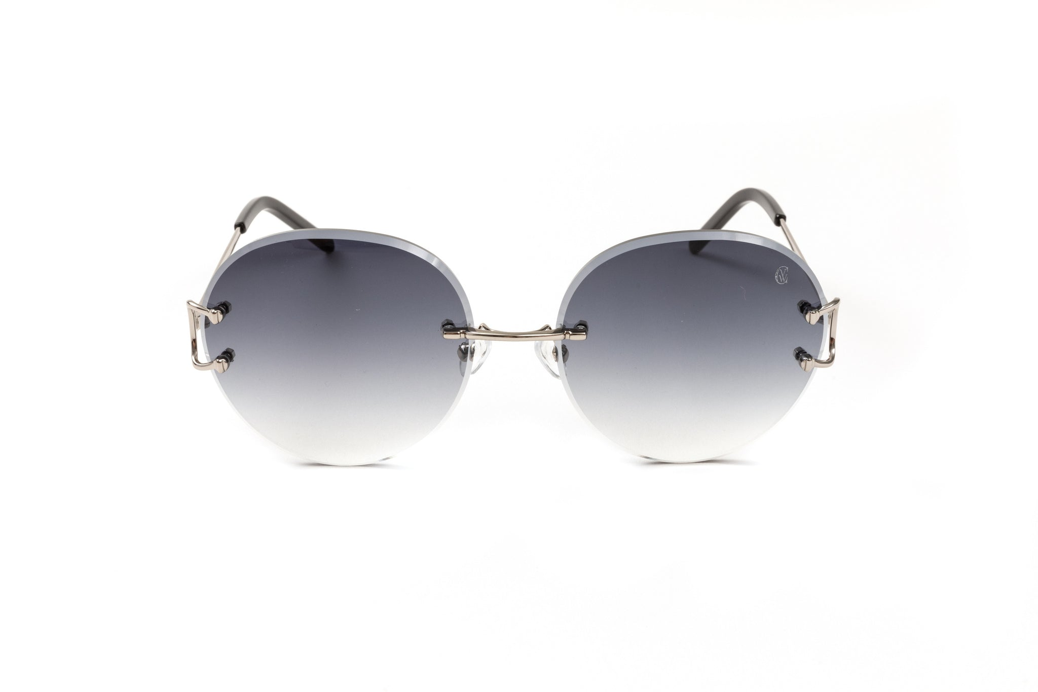 Classic C by VWC Silver/ Round Gradient Grey Lenses